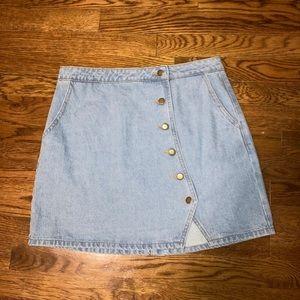 Buttoned Jean Skirt